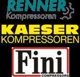 Kompressoren von Kaeser, Fini und Renner