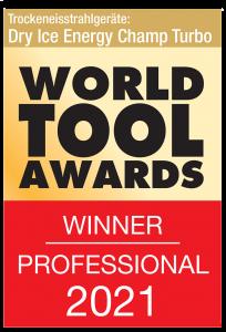 Sabbiatrice per ghiaccio secco World Tool Award 2021 Champ Turbo
